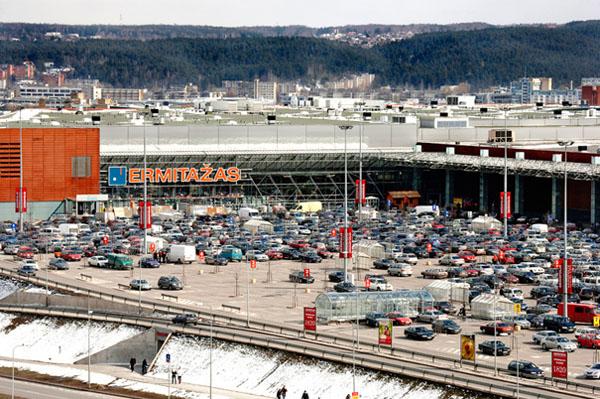 Строительный мегамаркет «Эрмитаж» в Вильнюсе
