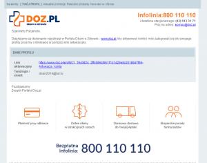 Регистрация в doz.pl - активация
